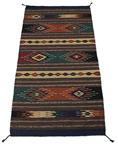 Onyx Arrow Southwest Décor Area Rug, 32 x 64 Inches, Diamond Dust, Rust/Multi