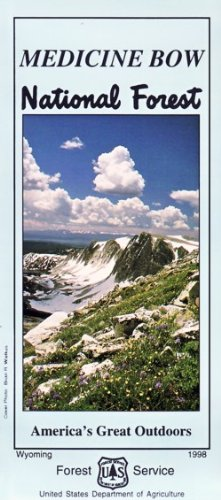 Medicine Bow National Forest Map - Waterproof