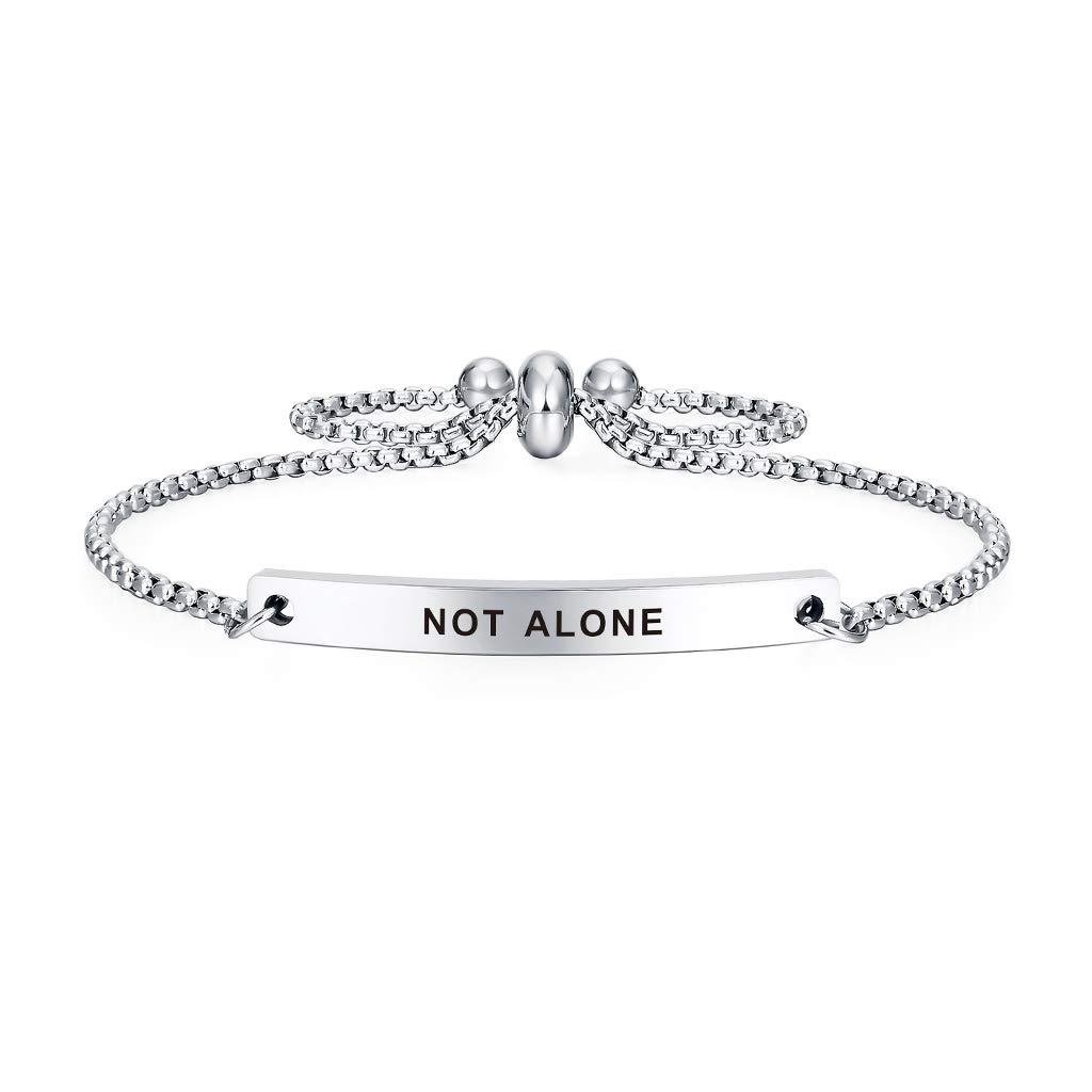 NOT Alone SOUSYOKYOSAM Dainty Cuff Bracelet Newly Pregnant Mom Long Distance Friend Jewelry Gift Ideas