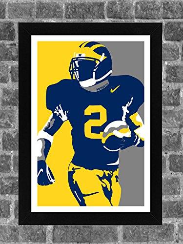 Michigan Wolverines Charles Woodson Portrait Sports Print Art 11x17