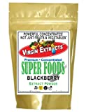 Virgin Extracts (TM) Pure Premium Raw Freeze Dried Organic Blackberry Powder Extract Concentrate 16oz Pouch (5 X Stronger) Blackberry Powder Blackberries Black Berry Superfood