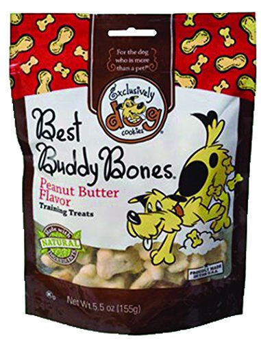 Exclusively Dog Best Buddy Bones-Peanut Butter Flavor, 5-1/2-Ounce Package - Exclusively Dog Best Buddy