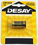 Desay 10PC CR123 CR123A 123A CR17345 DL123 Lithium Batteries