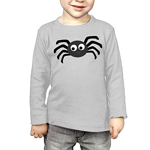 Eiyuanjie Halloween Spider Kids'/Toddlers' Long Sleeve T-Shirt 4 Toddler (Halloween 1 Film Trailer)