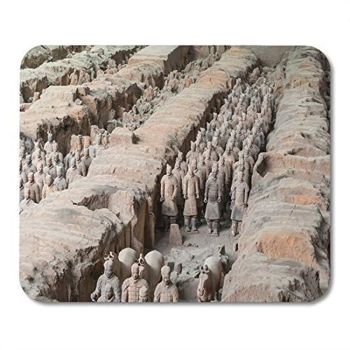 Emvency Mouse Pads Xian Shaanxi Province China Aug The Terracotta Army at Mouse Pad for notebooks, Desktop Computers mats 9.5