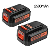 [Upgrate to 2500mAh] LBXR2036 Replacement for Black and Decker 40V Battery Lithium-lon LBX2040 LBX36 LBXR36 LBX1540 LST540 LCS1240 LST136 Cordless Tools 2 packs