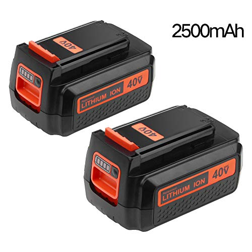 [Upgrate to 2500mAh] LBXR2036 Replacement for Black and Decker 40V Battery Lithium-lon LBX2040 LBX36 LBXR36 LBX1540 LST540 LCS1240 LST136 Cordless Tools 2 packs by Reoben