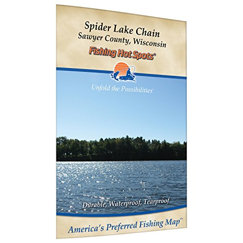 Spider Chain Fishing Map, Lake (Sawyer Co)