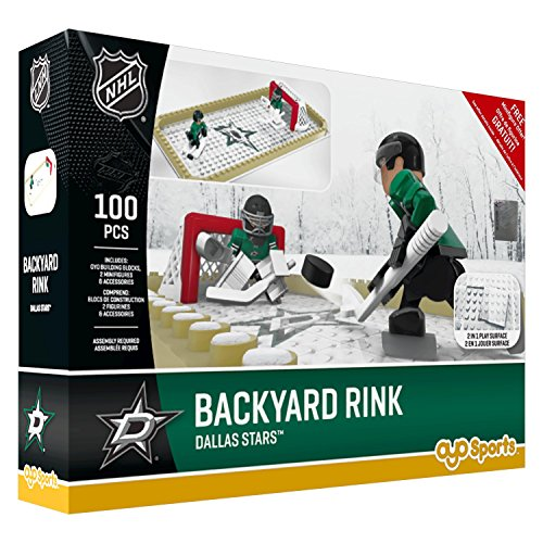 NHL Dallas Stars Backyard Rink Set, Small, Black (Backyard Stars)