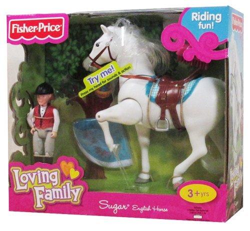 Fisher Price Loving Family Horse - Fisher Price Loving Family Sugar English Horse
