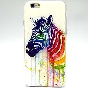 iPhone 6 Case, iPhone 6 (4.7 Inch) Case - Sunshine Case Fashion Style Zebra TPU Case Back Cover Protector Skin For iPhone 6 4.7Inch(Zebra)