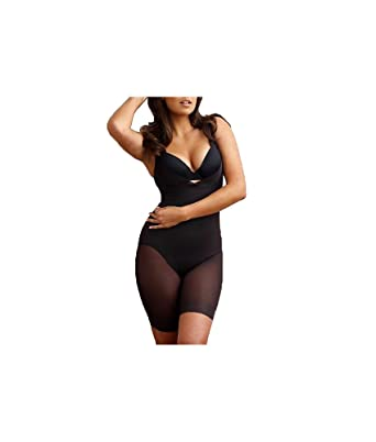 ba87389868 Miraclesuit Shapewear Extra Firm Sheer Shaping Open Bust Mid-Thigh Slimmer