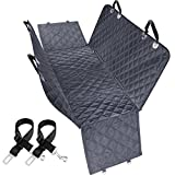 URPOWER Dog Car Seat Covers - 100% Waterproof Pet Seat Cover Nonslip Dog Seat Cover for Back Seat Washable Car Dog Seat Cover with Pet Seat Belts and Side Flaps Hammock for Cars Trucks and SUVs