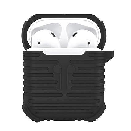 Funda de Transporte de Silicona para Auriculares inalámbricos Apple Airpods Negro