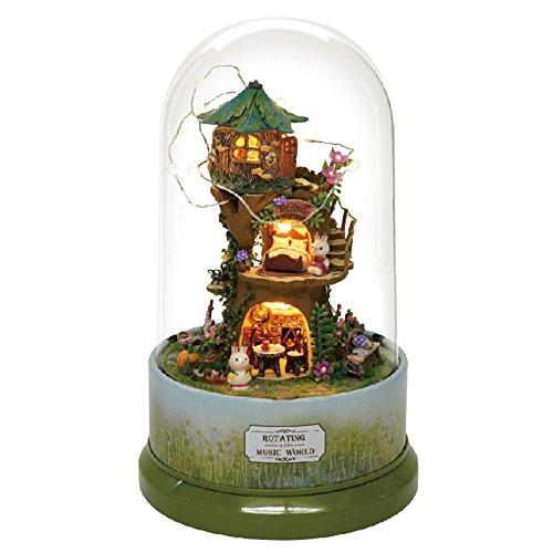 独特の素材 DIYの木製ドールハウスミニチュアキット - 人形/プラスチックケース/ LEDライト -/オルゴールと神秘的な木の家モデル B07CZCHM34 B07CZCHM34, MARUMITSU オリジナルライティング:56282dbd --- arcego.dominiotemporario.com