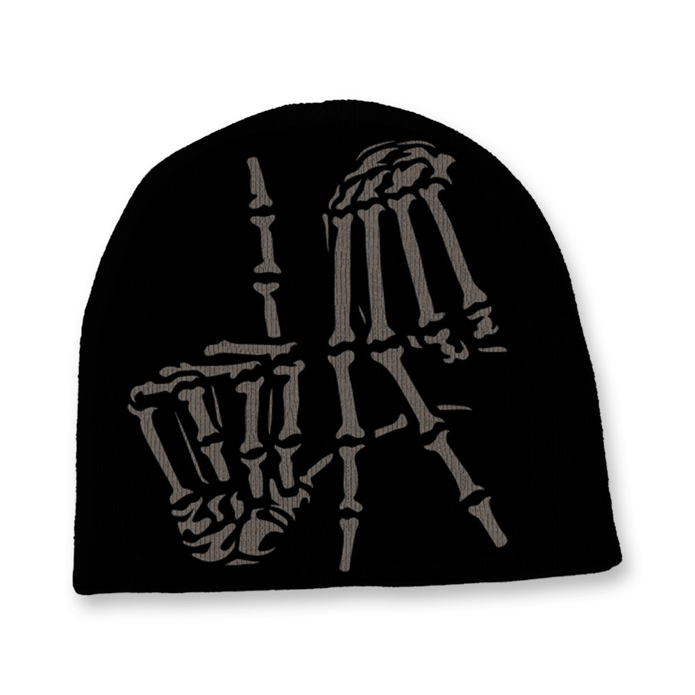 a8796f344d3 Amazon.com  OGABEL LA Bones Beanie  Clothing