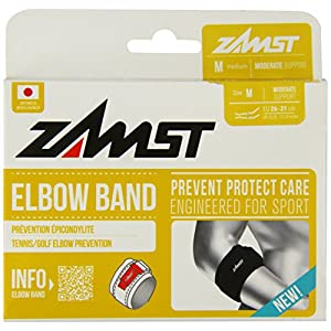 Zamst Elbow Band, Black, Medium