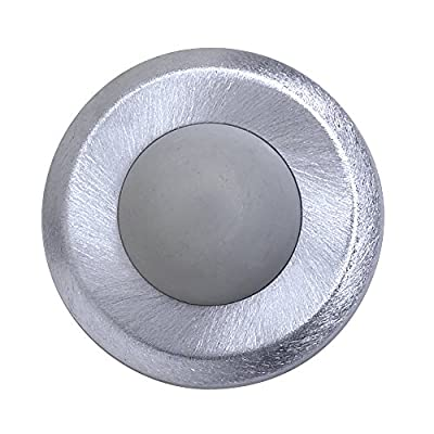 "Tell Manufacturing DT100085 Concave Wall Stop, Satin Stainless Steel Wrought, 2-1/2"" Diameter"