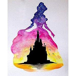 5D DIY Diamond Painting Kit, Princess Castle Full Diamond Cross Stitch Craft kit Embroidery Rhinestone Cross Stitch Arts Craft Home Wall Decor Gift 30x40cm