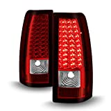 ACANII - For 1999-2006 GMC Sierra 1500 2500 3500 Red Clear LED Tail Lights Lamps Left+Right