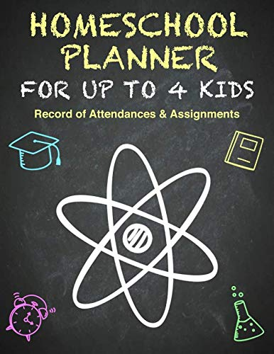 Homeschool Planner | Multiple Kids | Hour Log of Assignments & Record of Daily Attendance: Homeschooling Logbook and Tracker for Up To 4 Children. ... Letter Size: 8.5 x 11 inch; 21.59 x 27.94 cm