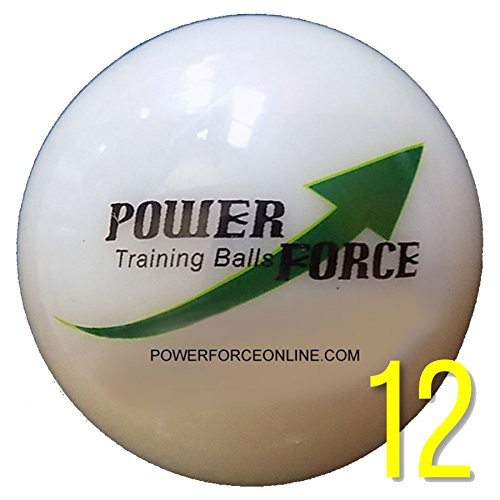 Power Force (12 Baseballs) - 3'' Dia. 15 oz - Weighted Training Baseballs for Hitting by Power Force Training Balls