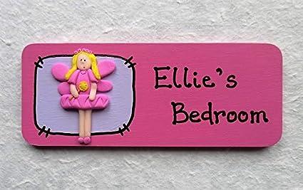 Personalised Handmade Fairy Door Plaque Girls Bedroom Door Name Plate Gift Ideas For Girls Pink Fairy Presents