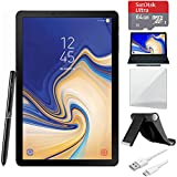 "Samsung Galaxy Tab S4 10.5"" WiFi Tablet Black 64GB (SM-T830NZKAXAR) with Tablet Stand, 10"" Screen Protector, USB-A to USB-C Cable, S4 10.5 Keyboard & 64GB Memory Card"