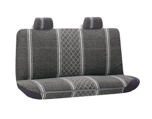 Diamond Tweed Standard or Full Sized Bench Seatcover Front or Rear Seat Grey (Standard Bench Seat)