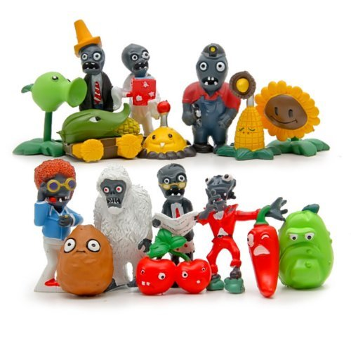 Unbranded Plants vs Zombies 16pcs Action Figures Set Toy Kids Gift Cake Topper Car Decor]()