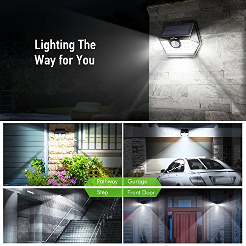 LITOM Classic Solar Lights Outdoor, 20 LED Wireless Motion Sensor Lights(White Light), 270°Wide Angle, IP65 Waterproof, Easy-to-install Security Lights for Front Door, Yard, Garage, Deck, Porch-4 Pack by Litom (Image #5)