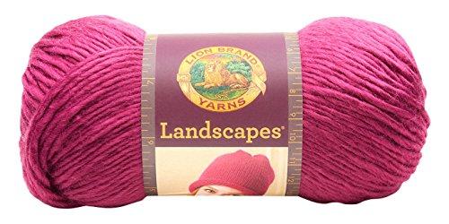 Landscape Roses - Lion Brand Yarn 545-140 Landscapes Yarn, Rose