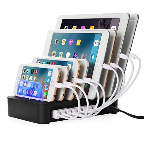 Nexgadget Detachable Universal Multi-Port USB Charging Station, 50W 8-Port USB Charging Dock (Multi Device Usb)