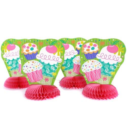 Mini Honeycomb Centerpieces (8 Pink Cupcake Mini 6