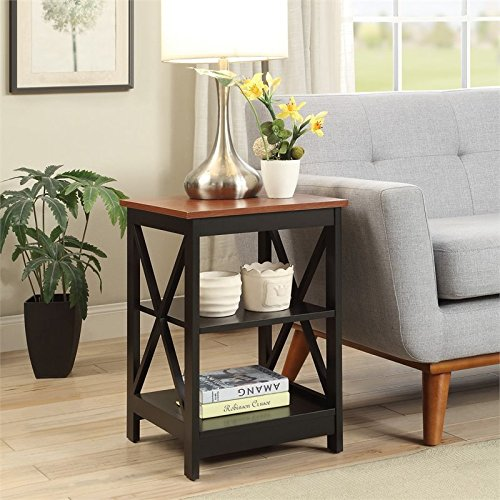 Convenience Concepts Oxford End Table, Cherry/black