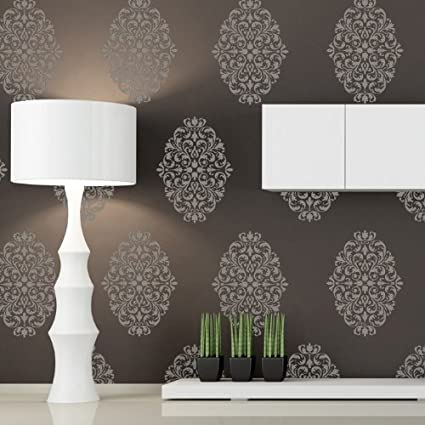 Amazon Com J Boutique Stencils Damask Wall Stencils Pattern