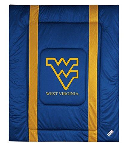 West Virginia University Jersey Stripe Comforter (Full/Queen)