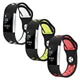 Fitbit Charge 2 Band, Hanlesi Silica gel Soft Silicone Adjustable Fashion Replacement Sport Strap Band for Fitbit Charge 18 Smartwatch Heart Rate Fitness Wristband