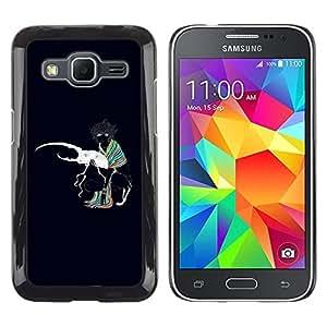 Be Good Phone Accessory // Dura Cáscara cubierta Protectora Caso Carcasa Funda de Protección para Samsung Galaxy Core Prime SM-G360 // Bug Beetle Love White Art Colrful Girl Scarf
