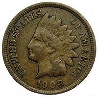 1908 centavo estadounidense de cabeza india /moneda de centavo