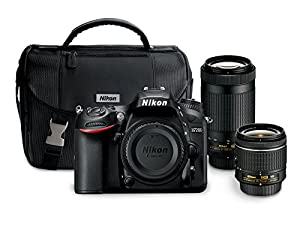 Nikon D7200 24.2 MP Dual Zoom Lens Kit with 3.2