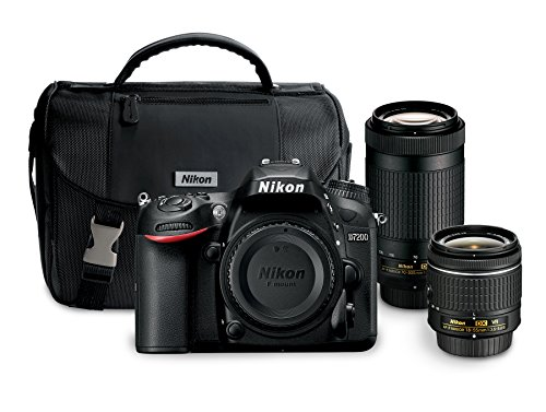 Nikon D7200 24.2 MP Dual Zoom Lens Kit with 3.2″ LCD, Black