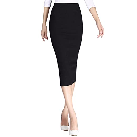 9b75ccc976f Image Unavailable. Image not available for. Color  XWDA Long Pencil Skirt  Women Sexy High Waisted Bodycon Maxi ...