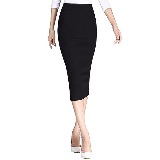 0dc833e1166f XWDA Long Pencil Skirt Women Sexy High Waisted Bodycon Maxi Split ...
