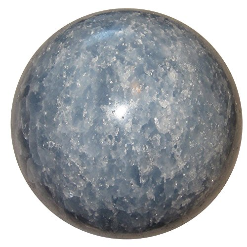 - Calcite Ball Blue 14 Positive Energy Crystal Healing Stone Fifth Chakra Throat Activation Sphere 3