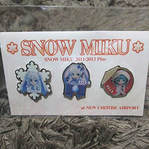 雪ミク ピンズ SNOW MIKU 2013 新千歳空港コラボ さっぽろ雪まつり会場限定 初音ミク ボカロ ねんどろいど いちご白無垢 バッジ ピンバッチ anime グッズの商品画像