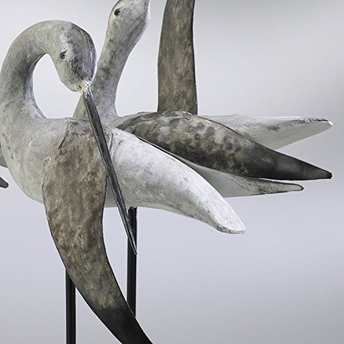 Weathered White And Gray 21In. Sandpiper Quartet 01517 by Cyan Designs