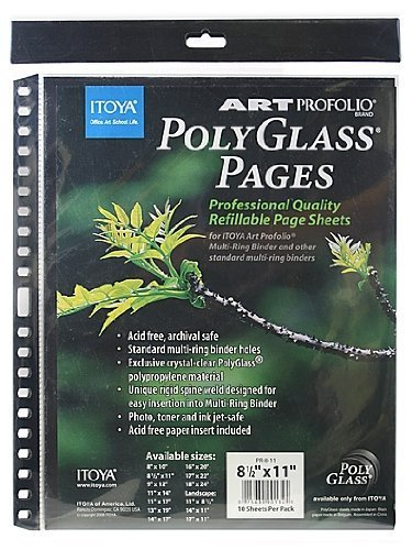 Itoya Art Portfolio Polyglass Refill Pages 4-Pack (Set of 10/Size: 8.5'' x 11'') by Itoya of America, Ltd (Image #1)
