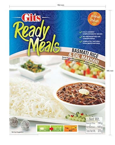 Gits Ready Meals Dal Makhani and Jeera Rice, 13.2 oz