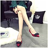 Douqu A Pair Simple Elegant and Retro Style Assorted Color Plain Ribbon Bow Butterfly High Heel Shoe Clips (Wine Red)